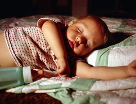 Child Sleeping With Bottle - Pediatric and Cosmetic Dentists Keller, and Southlake TX - Donohue & Donohue, DDS